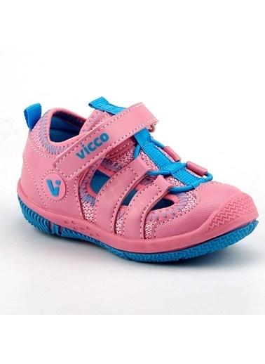 Vicco Vicco 332.Z.300 Sunny Pembe Kız Çocuk Günlük Ortopedik Spor Sandalet Terlik Pembe